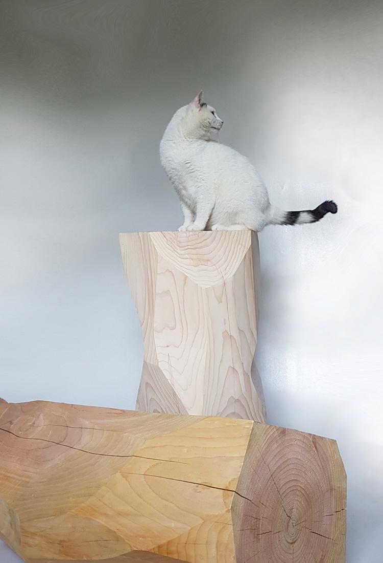 PLOK Skulptur, Tisch und Sockel | Jan Tesche | Möbelunikate & Objekte